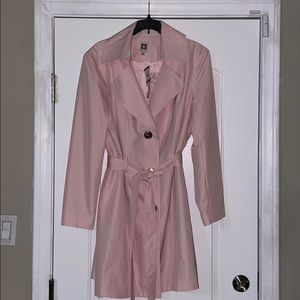 Anne Klein Pink Trench Coat